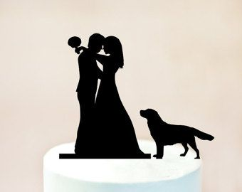 340x270 Wedding Silhouette Cake Topper Cake Topper With Dog Cake Topper
