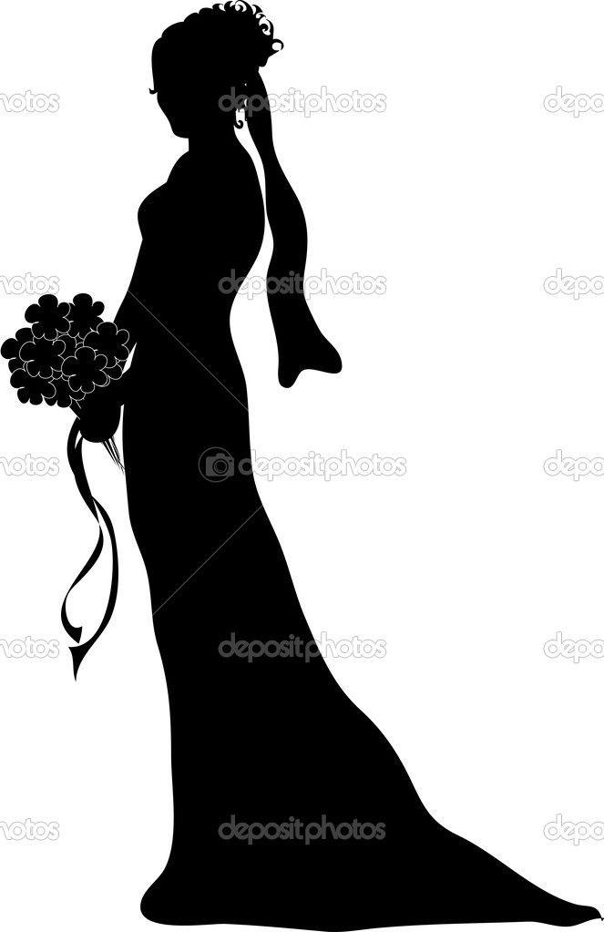 663x1023 Wedding Bouquet Silhouette