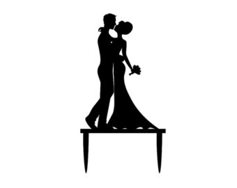 340x270 Bride And Groom Outline Clipart 46