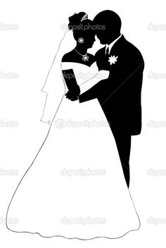236x352 Silhouette Married Couple Bride And Groom Dancing Silhouette