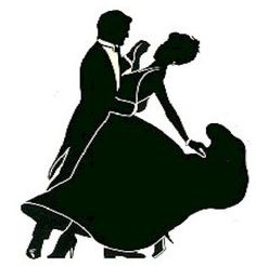 236x246 Ballroom Dancing Couple Silhouette Church