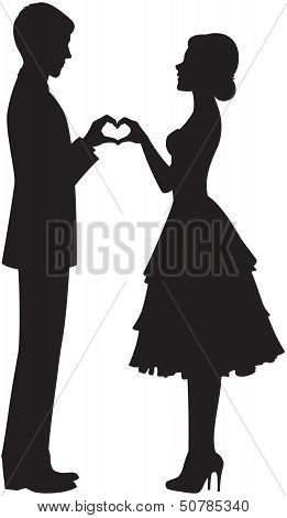 261x470 Silhouette Of Bride And Groom Silhouettes