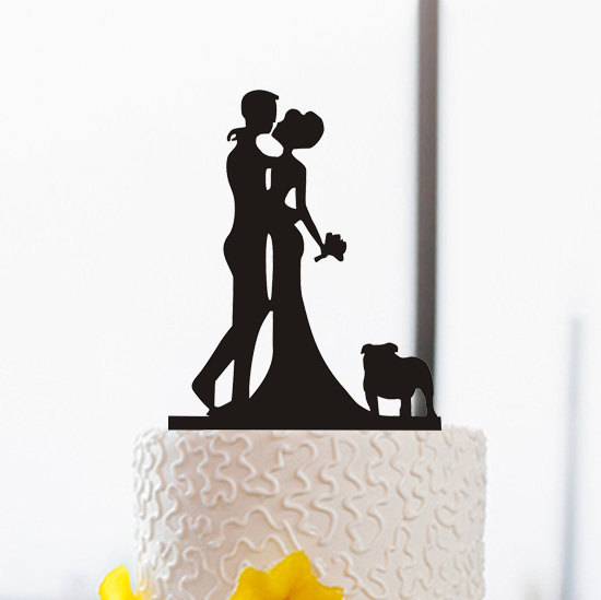 550x549 Wedding Silhouette Bride And Groom Kiss Cake Topper Cake Topper