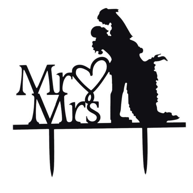 640x640 Classy Romantic Acrylic Wedding Cake Topper Bride Amp Groom