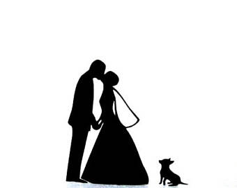 340x270 Mr Amp Mrs Bride And Groom Acrylic Cake Stand Topper Silhouette