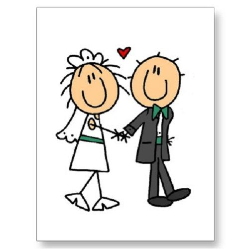 500x500 Bride And Groom Silhouette Another Option To Draw On The Clipart