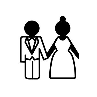 340x340 Free Silhouette Vector Love, Wedding, A Couple