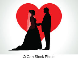 254x194 Bride And Groom Silhouette Clipart Vector And Illustration You'Ll