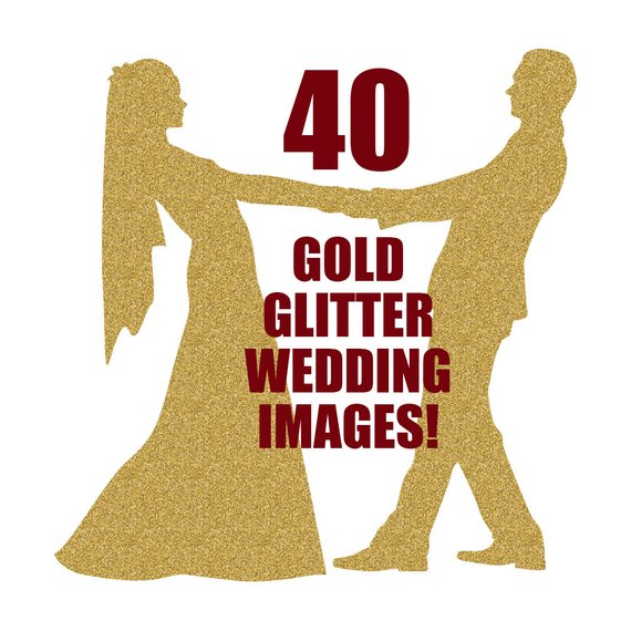 570x570 Wedding Silhouettes Gold Wedding Gold Glitter Gold