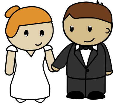 378x362 Image Of Bride And Groom Clipart