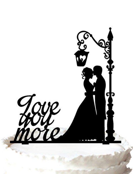 461x600 Love You More Wedding Cake Topper Groom And Bride Silhouette ,37