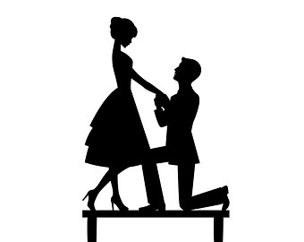 340x270 Proposal Silhouette Free Clipart