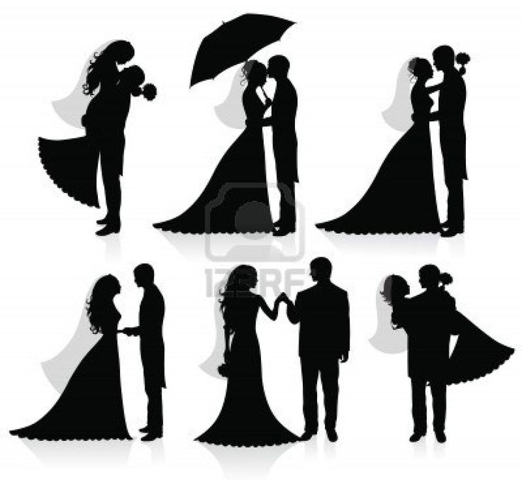 736x677 Bride And Groom Vector Silhouette Images Totally Awesome Wedding