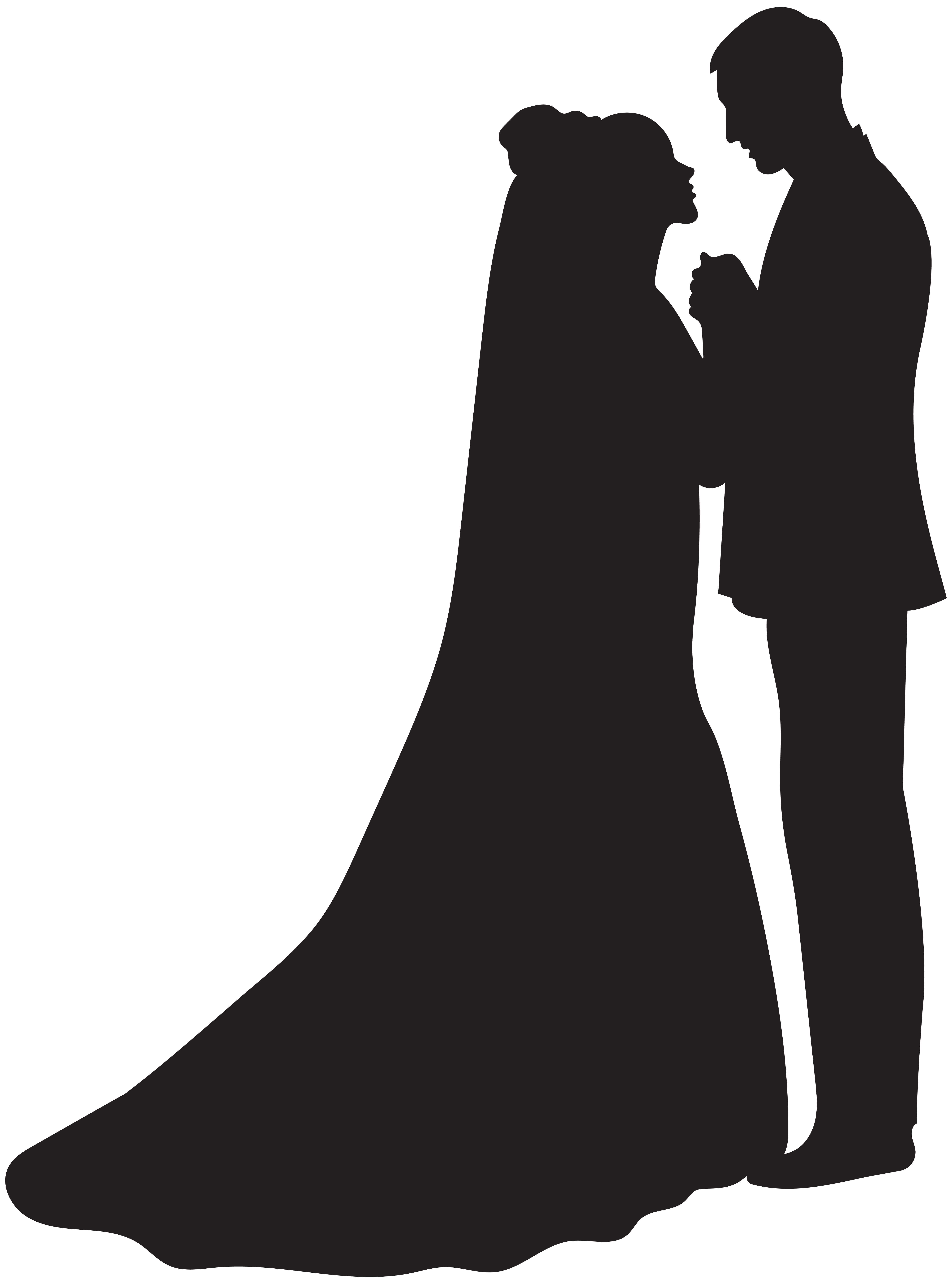 5934x8000 Bride And Groom Silhouette Png Clip Artu200b Gallery Yopriceville