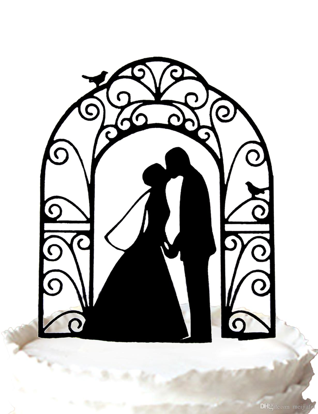 Bride And Groom Silhouette Free Clip Art