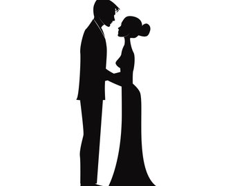 340x270 Wedding Silhouette Etsy