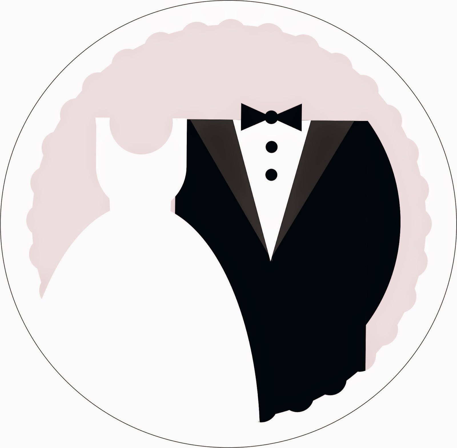 Bride And Groom Silhouette Vector Free