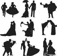 225x224 Pregnant Woman In Wedding Dress Silhouette Vector Silhouettes