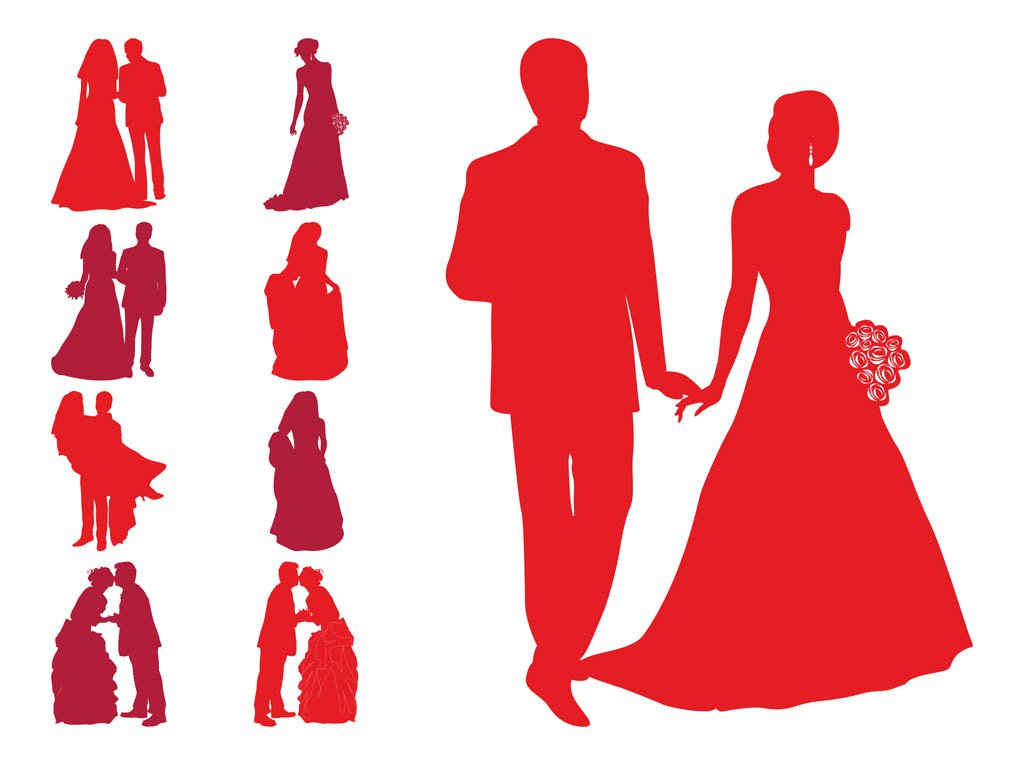 1024x765 Wedding Silhouettes Vector Art Amp Graphics