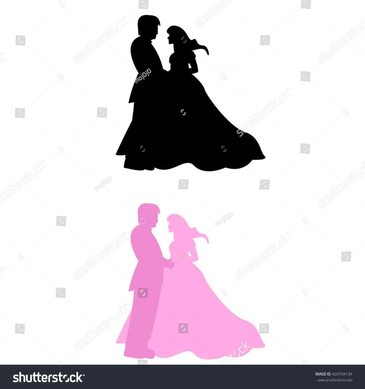 1185x1264 Bride And Groom Silhouette Wedding Clipart