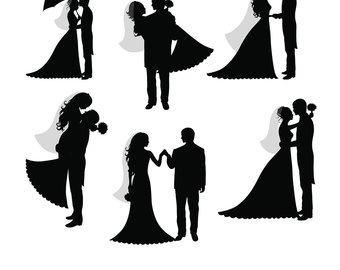 bride and groom silhouette wedding clipart at getdrawings com free rh getdrawings com bride & groom clipart bride dragging groom clipart