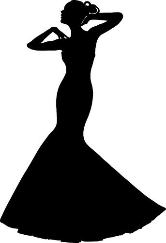 343x500 Clip Art Illustration Of A Spring Bride In A Strapless Gown