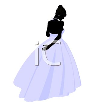 318x350 Silhouette Of A Demure Bride
