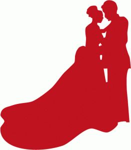 Bride Groom Silhouette Clip Art