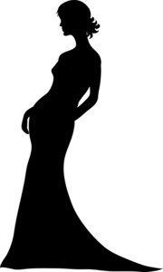 180x300 Bride Silhouette Free Clipart