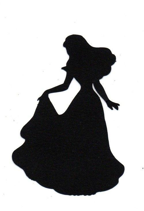 500x731 Silhouette sleeping bueaty Bride Silhouette Die Cut For Wedding
