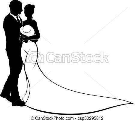 450x403 Bride And Groom Wedding Silhouette. Wedding Design Of Bride