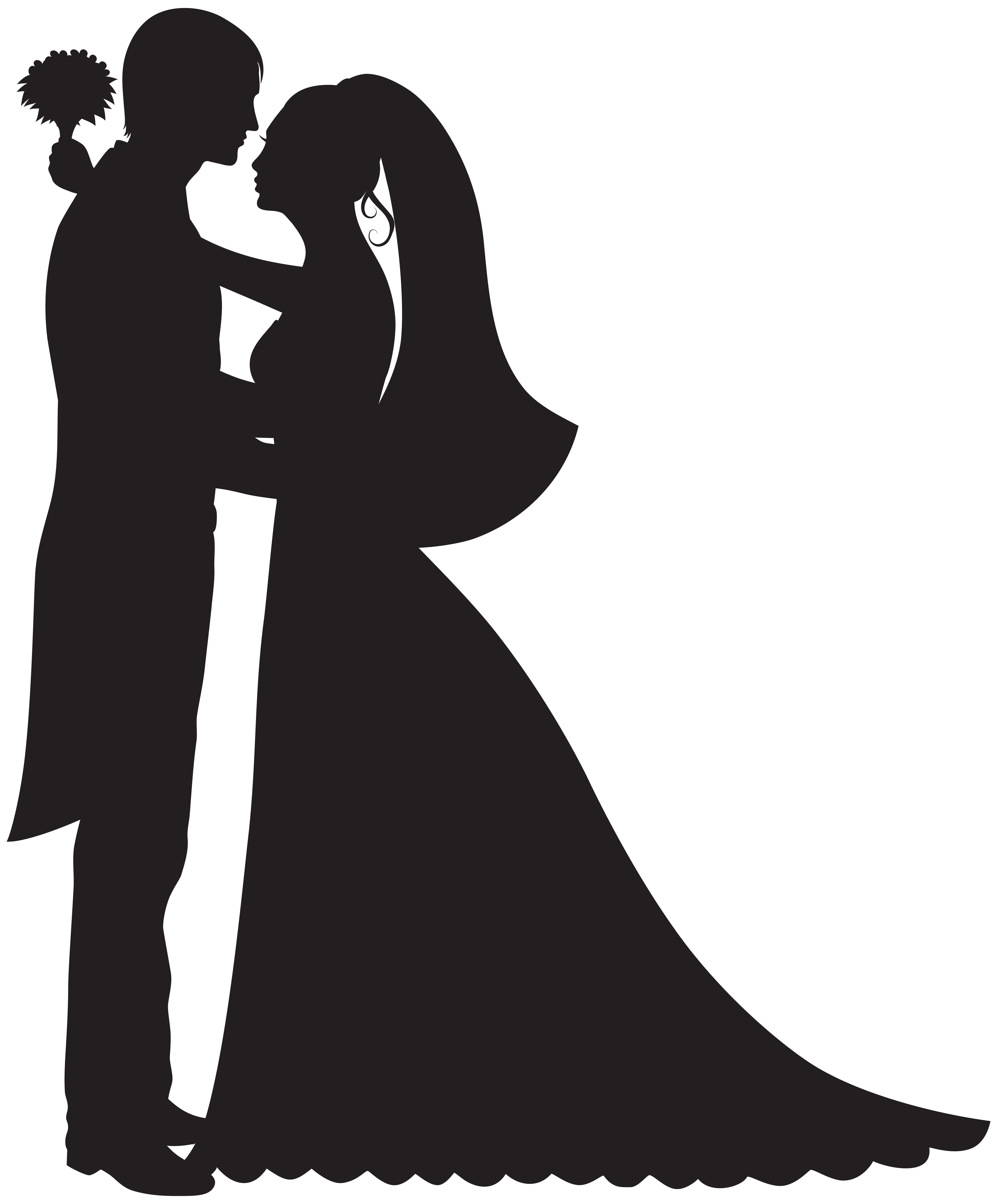 bride silhouette clip art at getdrawings com free for personal use rh getdrawings com dog groomer clipart clipart groom and bride