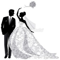 236x237 Bride And Groom Clipart Silhouette