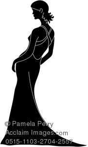 Bride Silhouette Clipart