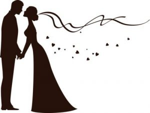 300x226 Extraordinary Bride And Groom Silhouette Free Clip Art Clipart