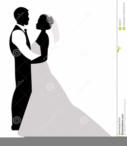 261x300 Free Clipart Bride And Groom Silhouette Free Images