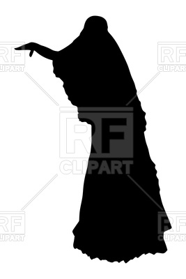 267x400 Silhouette Of Bride (Back View) Royalty Free Vector Clip Art Image