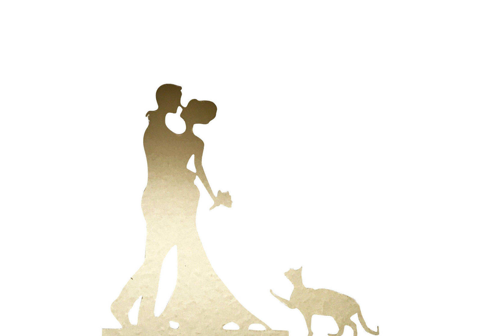 1586x1116 Gold Bride And Groom Acrylic Cake Stand Topper Wedding Cake