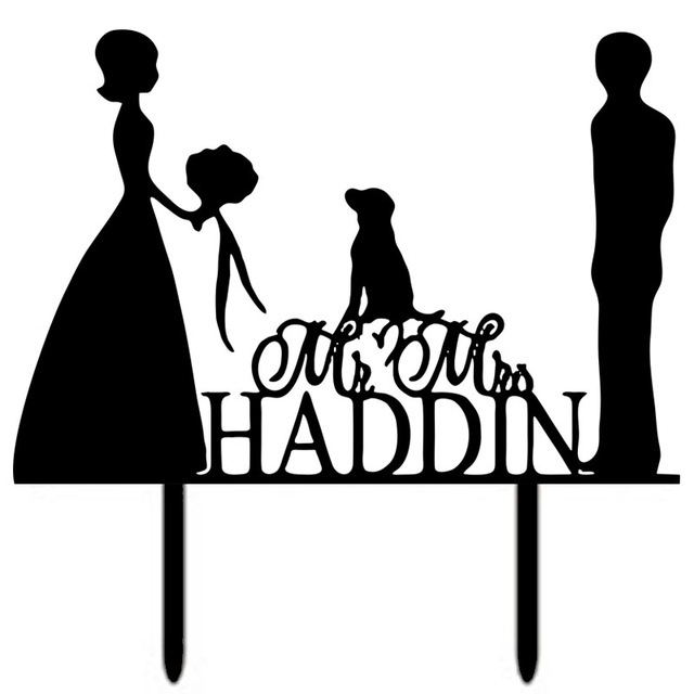 640x640 Personalized Acrylic Wedding Cake Toppers Bride And Groom Funny