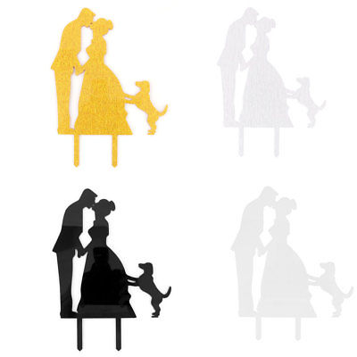 400x400 Silhouette Bride And Groom Figurines Acrylic Wedding Cake Cupcake
