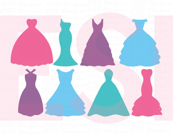 570x450 Wedding Dress Svg, Dress Svg, Bride Svg, Bridesmaid Svg, Svg, Dxf