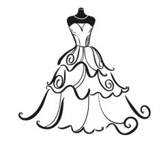 236x213 Bridesmaid Dress Silhouette Clip Art Wedding Dress Silhouette