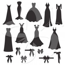 224x224 Bridesmaid Dress Silhouette Clip Art Wedding Dress Silhouette