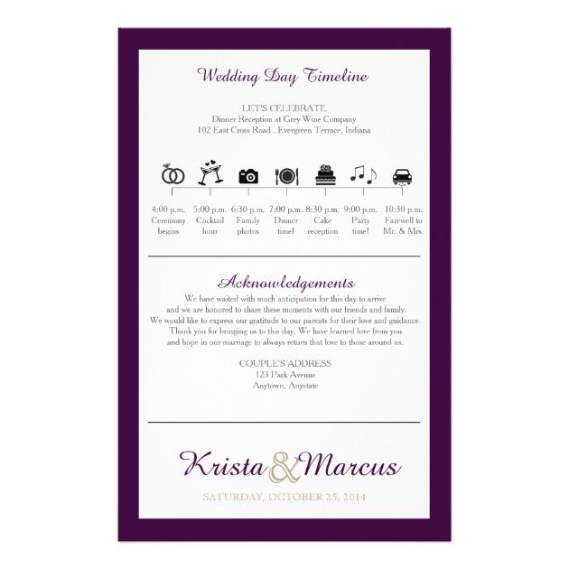 630x630 Icon Timeline Wedding Program