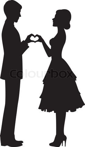 279x480 25 Best Wedding Images On Wedding Cards, Silhouettes