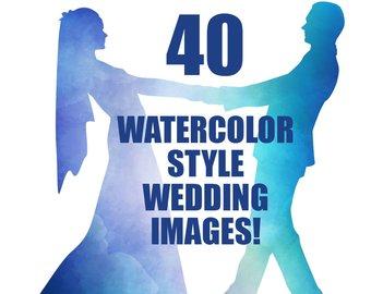 340x270 Wedding Party Silhouettes Wedding Bride Bridesmaid