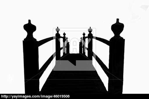 512x341 Footwalk Bridge In Silhouette Image