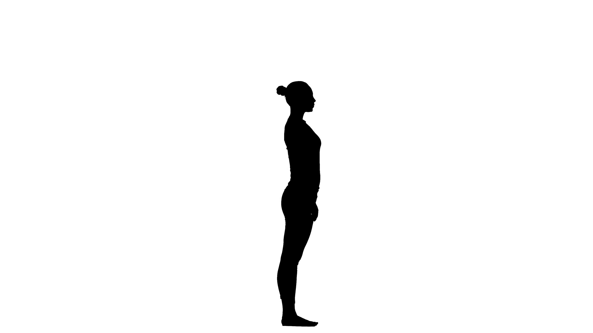 1920x1080 Girl Shows The Pose Bridge. Silhouette Stock Video Footage