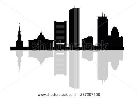 450x320 Boston Clipart Boston Skyline Silhouette With Bridge 3091290