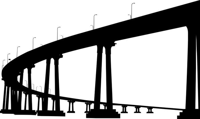 700x418 Silhouette Of San Diego Coronado Bridge Lack Table Veneer Pixers